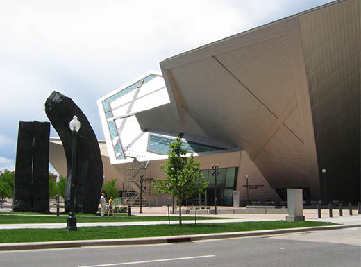 Outside view of Denver art museum in Colorado