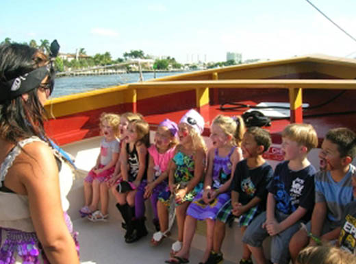 Kids at Blue Foot Pirates on a sunny day