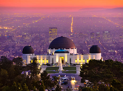 Observatory at sunset in LA