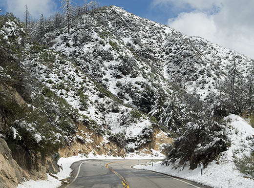 LA Crest Highway in the San Gabriel Mountains, LA""