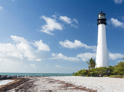 Cape Florida Lighthouse Lantern in Miami, FL