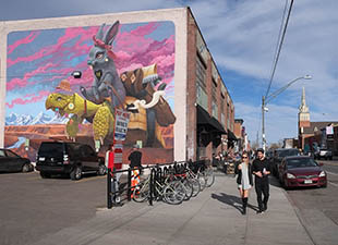 Large mural, RiNo Street Art in Denver, CO