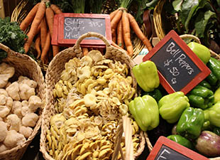 Vegetables at Boston Public Market in Boston, Massachusetts