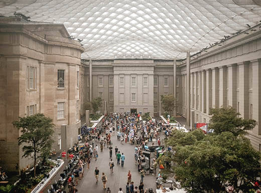 The Kogod Courtyard at the Smithsonian American Art Museum.