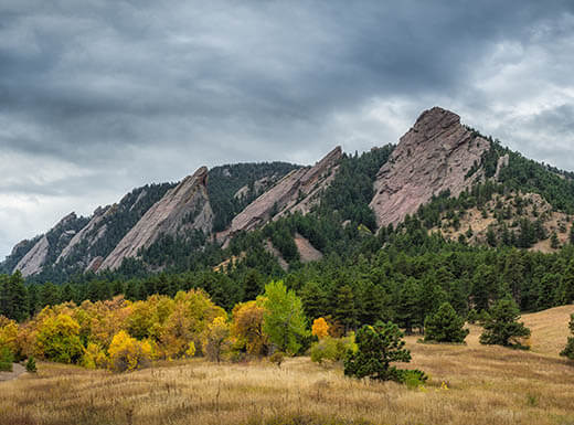 Flatiron Mountains in Boulder, Colorado