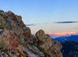 A gorgeous sunset from the summit of Mt. Olympus near Salt Lake City, Utah