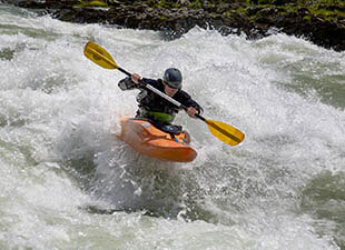 Whitewater kayaking in Denver, CO