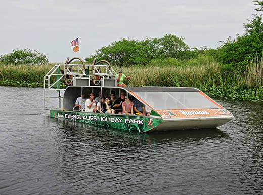 airboat tour at Everglades Holiday Park near Fort Lauderdale, FL